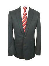 "Charles Tyrwhitt Mens suit Jacket SLIM FIT Ch40""R Charcoal Pindot"