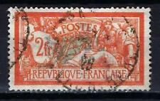 France 1907 type Merson (2) Yvert n° 145 oblitéré 1er choix