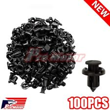100pcs Fender Retainer Clip Fasteners Plastic Rivet Nylon Bumper ATV Hood IS 250