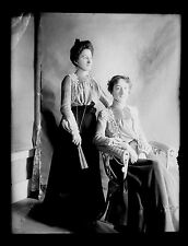 Glass Negatives Eddie & Effie Furbush Ladies Edwardian Fashion Rochester NH 1903