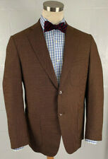 RAVAZZOLO sartoria 2btn brown mini check wool coat jacket 40R
