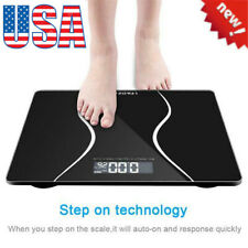 LEADZM 180Kg Slim Waist Pattern Personal Scale Black With Battery US Shipping