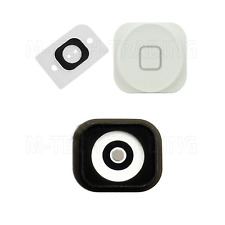 NEW GENUINE FOR IPHONE 5 WHITE HOME MENU BUTTON WITH RUBBER +SPACER CONTACT PART