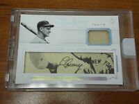 "2016 FLAWLESS CUTS "" LOU GEHRIG "" AUTO / MATERIAL 1/1  ONE OF ONE FACTORY SEALED"