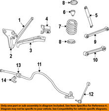 Jeep CHRYSLER OEM 2008 Liberty Stabilizer Sway Bar-Rear 52125329AD