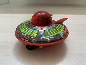 Vintage 1960s UFO X2 FLYING SAUCER Tin Toy~DAIYA JAPAN~Sci Fi  SpaceShip/Rocket