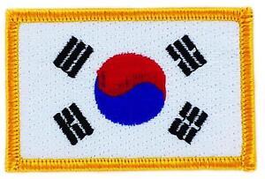 Patch écusson brodé Drapeau Corée du Sud Coréen  Thermocollant