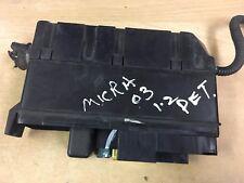 Nissan Micra Front Fuse Box k12 1.2 pétrole voiture Front Fuse Box 2003