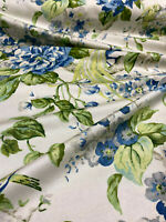 Waverly Floral Engagement Blue Green Porcelain Fabric By the Yard