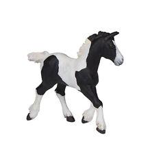 Papo 51508 Irish Cob Black Pinto Horse Foal Model Gypsy Vanner - NIP