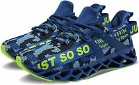 Mens ZZ0904 Fabric Low Top Lace Up Running, 5camouflage Blue, Size 10.0 Q