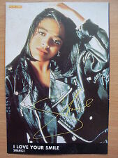 SHANICE - I Love Your Smile - Lyric Card + Autograph