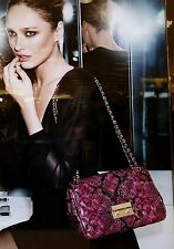MICHAEL Kors L Sloan Quilted Leather Hobo Shoulder Bag Pink Black - Fuschia Nwt