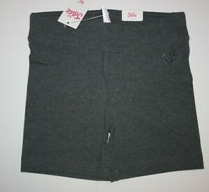 NEW Justice 6 7 8 10 12 16 year Girls Gray Athletic Mini Leggings Bike Shorts