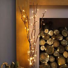 Large 120cm 80 LED Brown Decorative Fairy Twig Branch Lights Floor Lamp Home 1