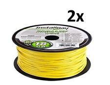 Lot of 2 METRA Install Bay 18 Gauge 500 Ft Primary wire Yellow 100% OFC Copper