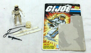 1983 Hasbro GI Joe ARAH Snow Job Figure Cardback Complete Peach Filecard FREESHP