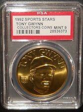 PSA 9 MINT 9 - Tony Gwynn 1992 Sport Stars Baseball Coins San Diego Padres