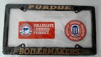 Officially Licensed Purdue Boilermakers Black Metal License Plate Frame Car