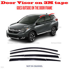 2S Tape Smoke Door Window Vent Visor Deflector ⭐6pcs⭐ fits Honda CR-V 2017-2020