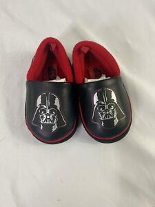 Disney Toddler Boys Darth Vader Slippers Small 5-6 Star Wars Black/Red Shoe 1312