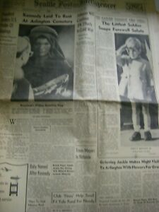 SEATTLE POST INTELLINGENCER-TUESDAY NOVEMBER 26, 1963-GOOD CONDITION-