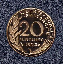 20 CENTIMES MARIANNE 1995 DU COFFRET BE