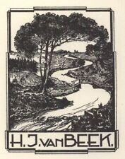 Ex Libris Ben Kamp : H.J. van Beek