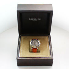 Stainless Steel Black Dial Tourneau Gotham Pacifica Automatic Wristwatch in Box