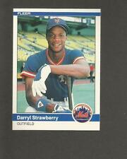 DARRYL STRAWBERRY Rookie Card 1984 Fleer # 599 RC New York Mets