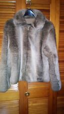 Beautiful unbranded faux fur short coat brown and cream
