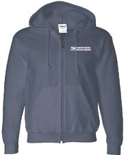 USPS POSTAL FULL ZIPPED NAVY HOODIE WITH EMBROIDERED POSTAL LOGO ON CREST S-3X