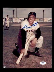 Willie Mays PSA DNA Cert Signed 8x10 Photo Giants Autograph