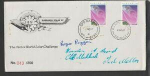 1987 PENTAX WORLD SOLAR CHALLENGE souvenir cover cancel Blair Athol and Darwin