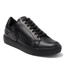 Versace Casual Black Leather Sneakers