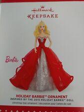 2015 Hallmark Keepsake Ornament Holiday Barbie 1st in the holiday series