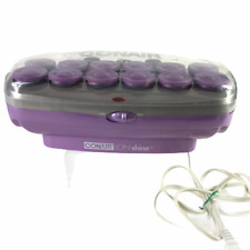 CONAIR Ion Shine 12 Flocked Purple Large Hot Rollers  CHV141X - 12 Clips Pageant