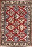 Super Kazak Oriental Kitchen Area Rug Wool Hand-Knotted Geometric Carpet 3x5