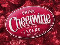 DRINK CHEERWINE SOFT DRINK HEAVY DUTY USA MADE METAL SODA POP ADVERTISING SIGN