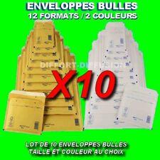 10 Enveloppes à bulles matelassées format au choix marron ou blanche TOP QUALITE