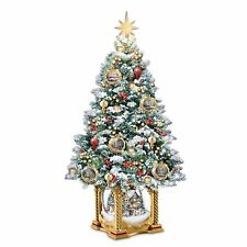 Thomas Kinkade Snow-Kissed Holiday Memories Tabletop Tree by Bradford Exchange