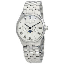 Frederique Constant Classics Silver Dial Mens Moonphase Watch FC-260WR5B6B