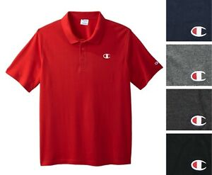 Champion Men's Pique Polo Shirt Big & Tall Short Sleeve Authentic Athletic wear