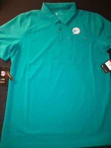 Nike Miami Dolphins Dri-Fit On Field Apparel Polo Shirt Multi Sizes New Rare $85