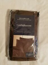 Croft & Barrow 2 Standard/ Queen pillowcases Set Damask Stripe Kohl's Brown