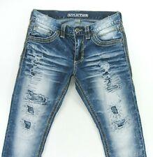 """AFFLICTION CAGE  DISTRESSED  Men's Jeans size 31  SHORT HEM 26"""" LONG"""