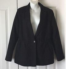 Banana Republic Black Cotton Jacket Heritage Collection Size 10