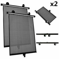 2X Retractable Car Side Window Baby Sun Shade Shield Cover Roll Curtain Visor