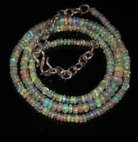 "38Ctw 1Necklace 2to4.5mm17"" Beads Natural Genuine Ethiopian Welo Fire Opal*T1404"