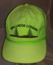 Vtg Smallwood Logging Neon Green Hat A3